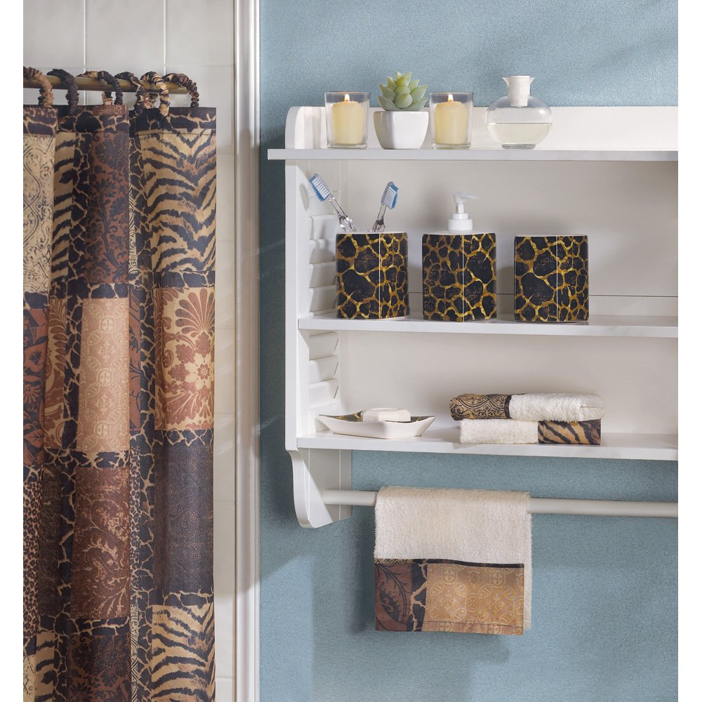 Attrayant Amazon.com: Designer Jungle Print Savannah Complete Bath Decor Set: Beauty