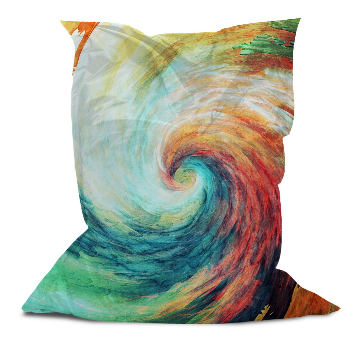 AAA Bean Bags - Comfortable Pillow Bean Bag Chair Lounger for Adults Kids Teens with Printed Vortex (3' x 4.4')