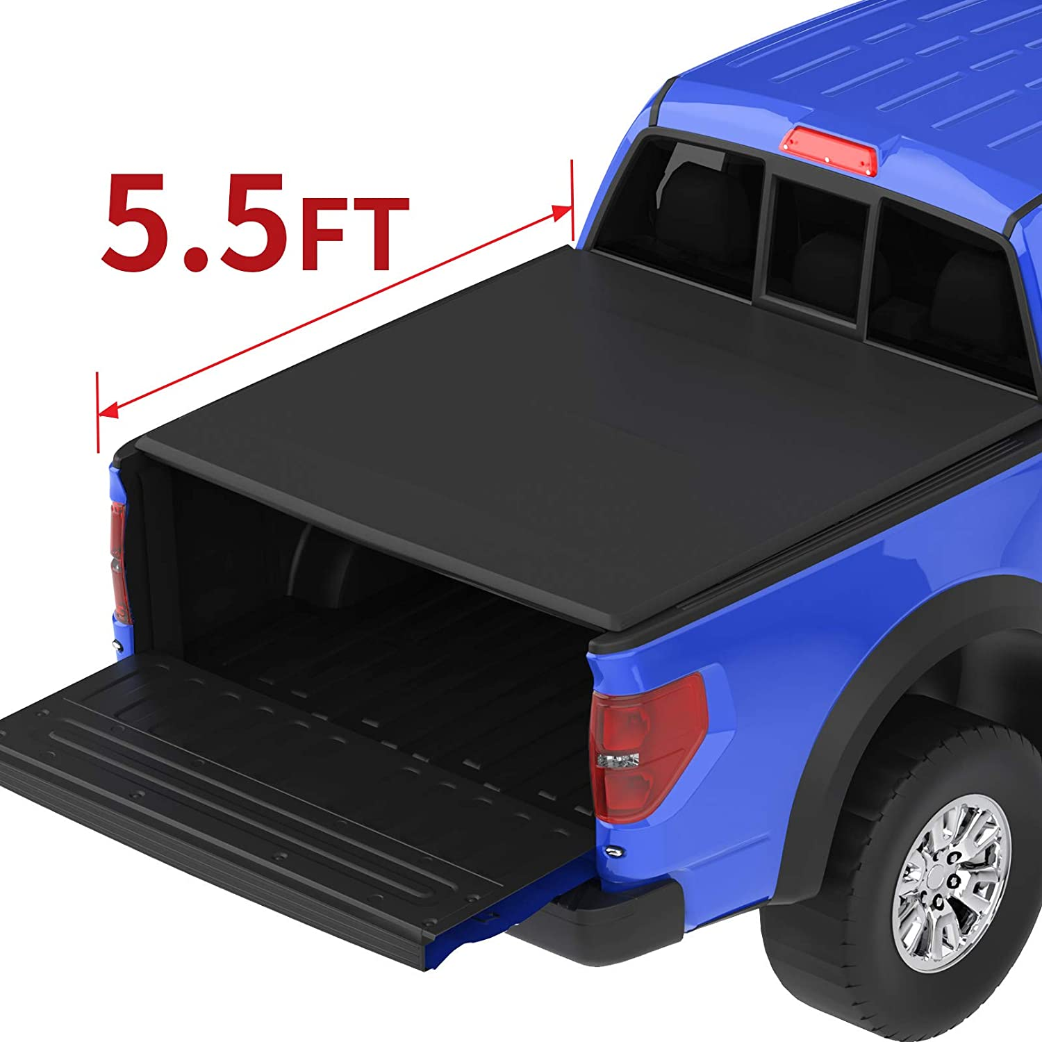 Amazon Com Oedro Roll Up Truck Bed Tonneau Cover Compatible With