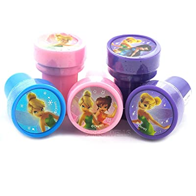 Disney Fairy Tale Tinkerbell Self Inking Stampers Party Favors (10 Stampers): Toys & Games