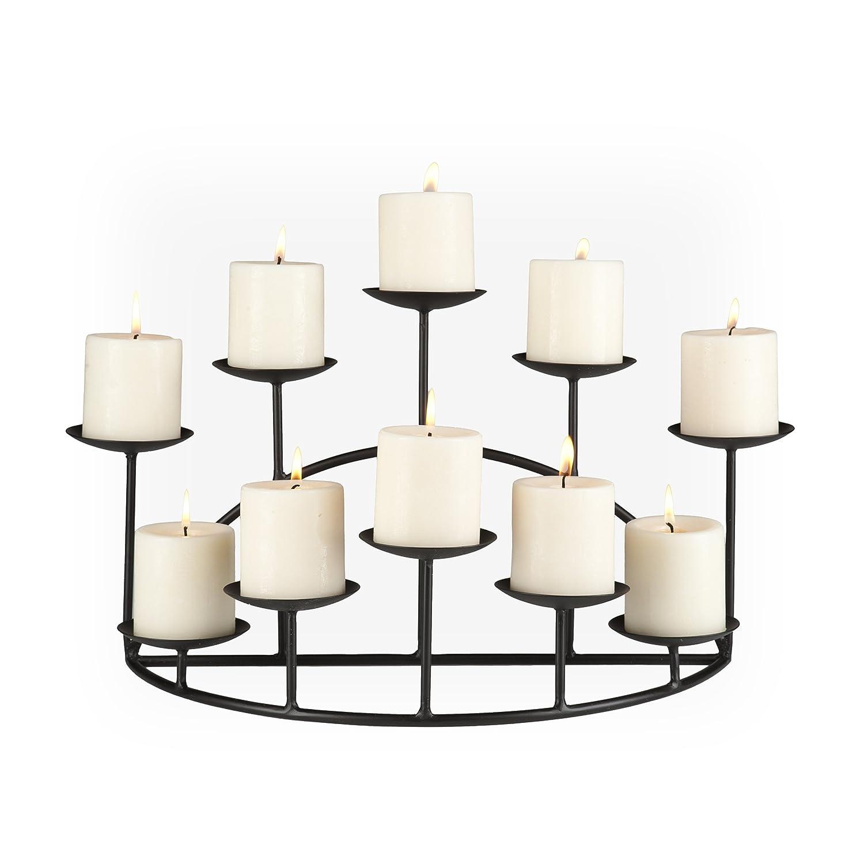 amazon com southern enterprises 10 candle candelabra matte black
