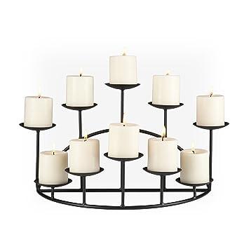 Amazon.com: Southern Enterprises 10 Candle Candelabra, Matte Black ...