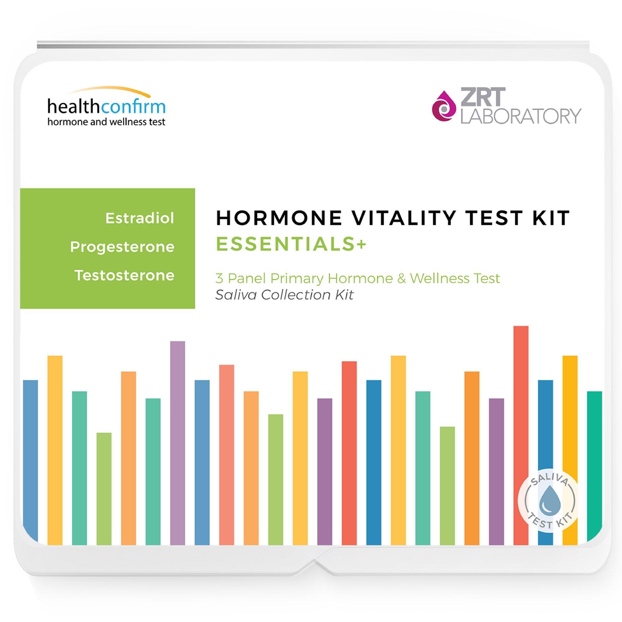 3 Hormone Imbalance Home Test Kit - Saliva Hormone Trio (E2, Pg, T) - Includes Pre-Paid Sample Return Label