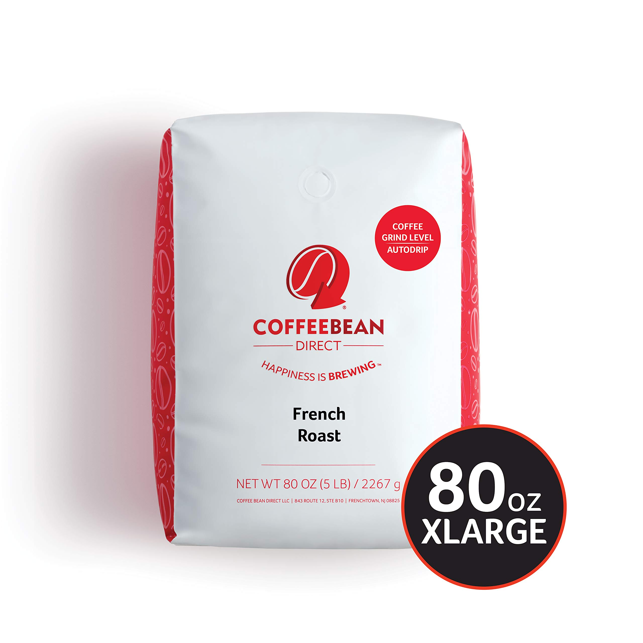 French Roast, Ground Coffee, 5-Pound Bag by Coffee Bean Direct