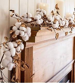 5 ft Natural Cotton /& Pod Garland Chinese