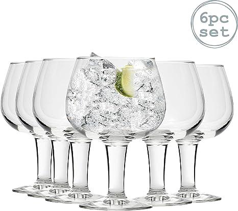 Lentes Gin and Tonic Durobor Gusto Globo español de Copa - 660 ml - Pack de 6: Amazon.es: Hogar