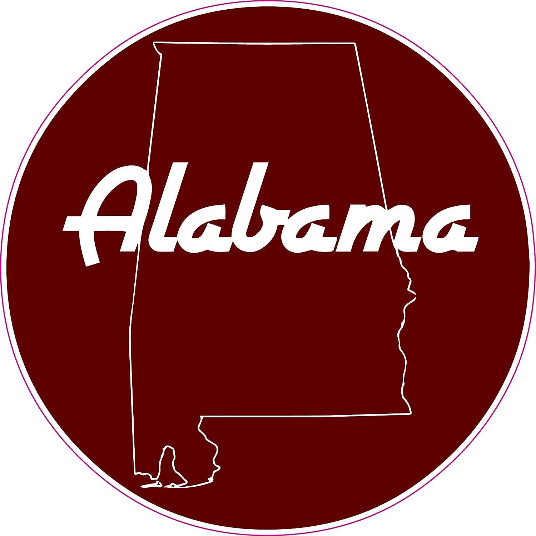 U s custom stickers alabama crimson state circle printed sticker 5 inch