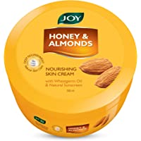 Joy Honey & Almonds Nourishing Skin Cream With Wheatgerm Oil Ingredient and Natural Sunscreen, 500ml, For All Skin Type