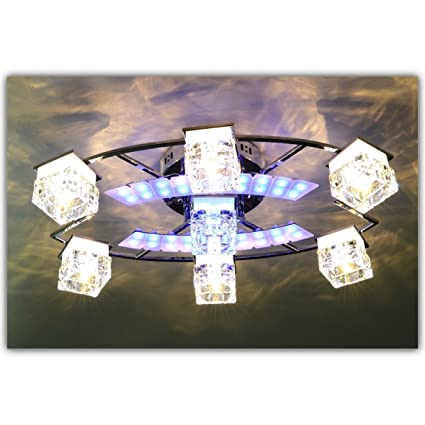 Ceiling Light 7FLAstrid LED Wohnzimmerlampe Chrome Amazoncouk Lighting
