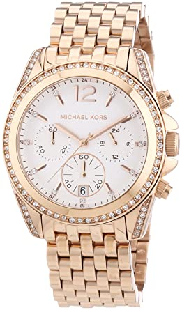 b0c3c760b1a Amazon.com  Michael Kors Watches Pressley Watch (Rose Gold)  Michael ...