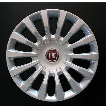 """1 llanta embellecedores para rueda logotipo rojo Bol 16"""" Fiat Bravo 2 unidades"""