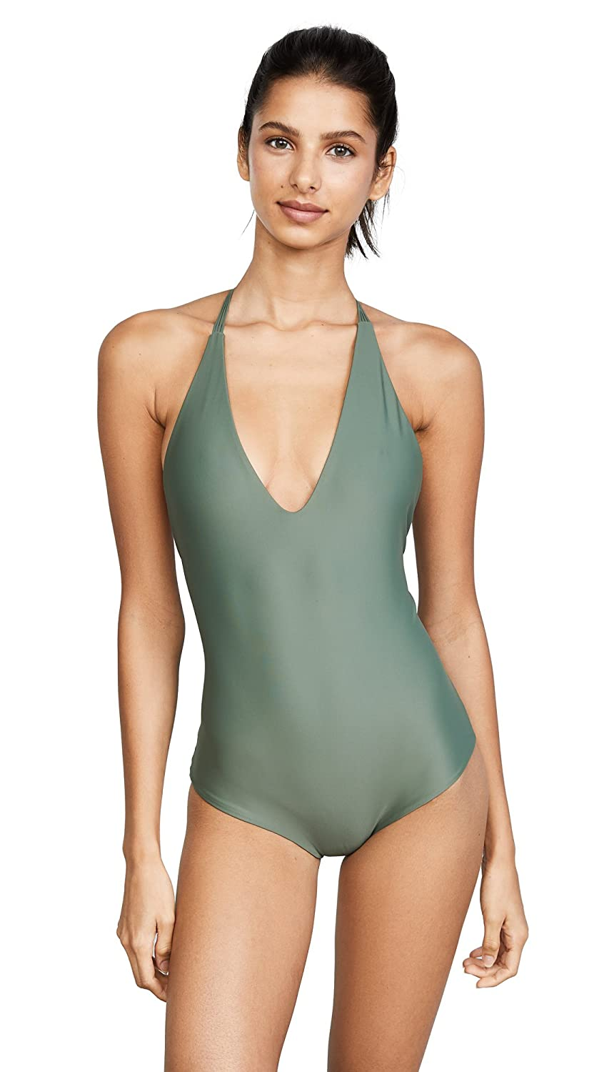 250bc7113e37 MIKOH Swimwear Women's Ipanema One-Piece Army X-Large: Amazon.co.uk:  Clothing