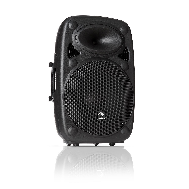 auna SLK-12-A • Altavoz activo PA • Equipo portátil • Altavoz vertical • 30 cm • 700 W max • Tecnología XMR Bass • Bluetooth • USB • SD • MP3 • Entrada y salida de línea • Conector de brida • Negro PAS4-90400-aslb