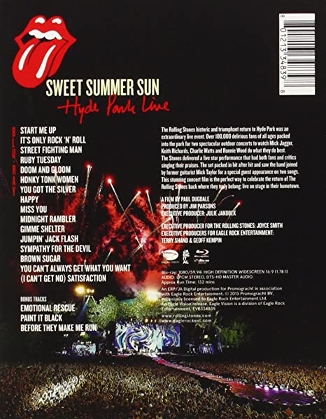 The Rolling Stones - Sweet Summer Sun - Hyde Park Live USA ...