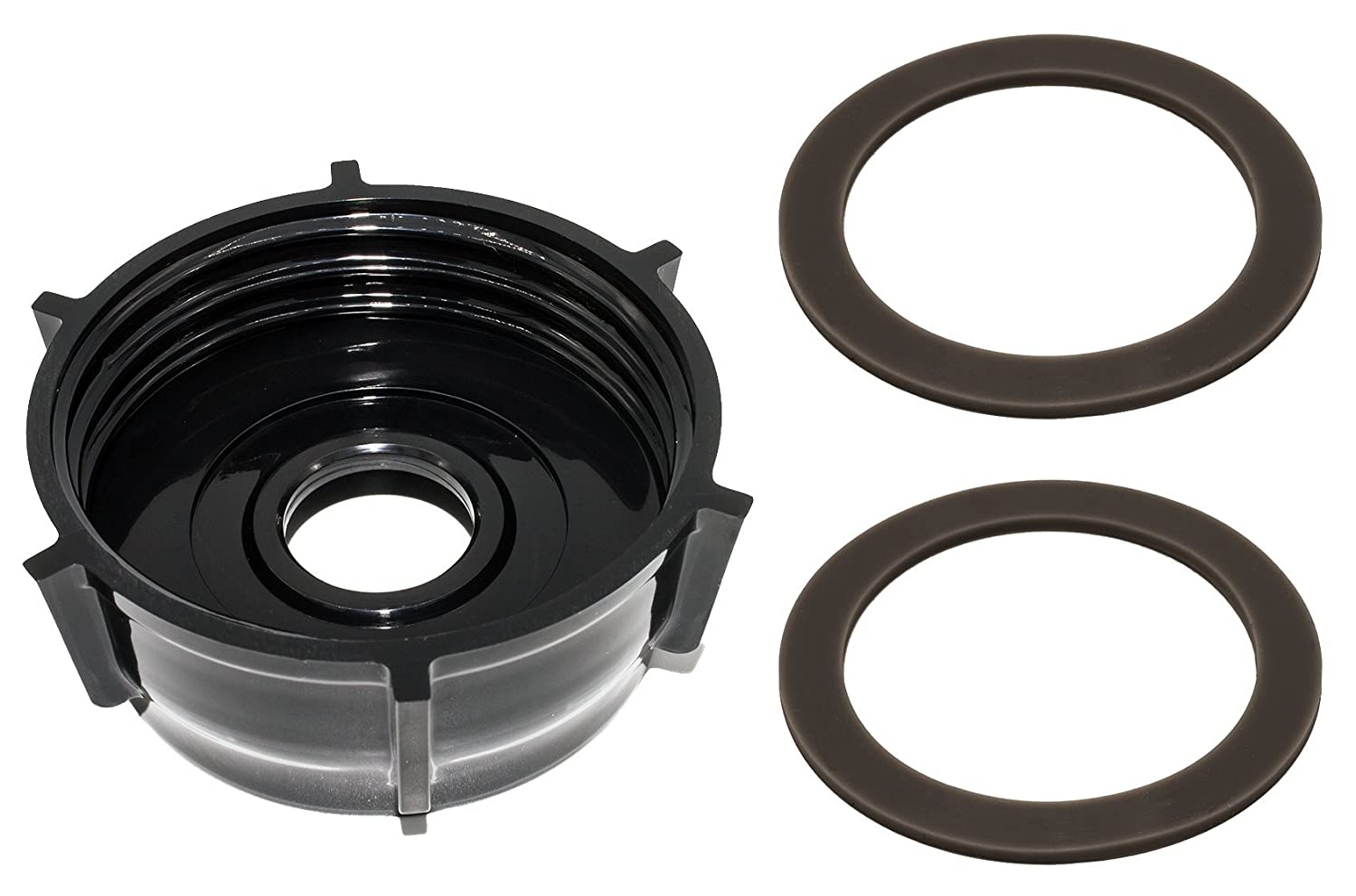 Blendin Blender Base Bottom Cap With 2 Rubber O Ring Gaskets, Fits Oster