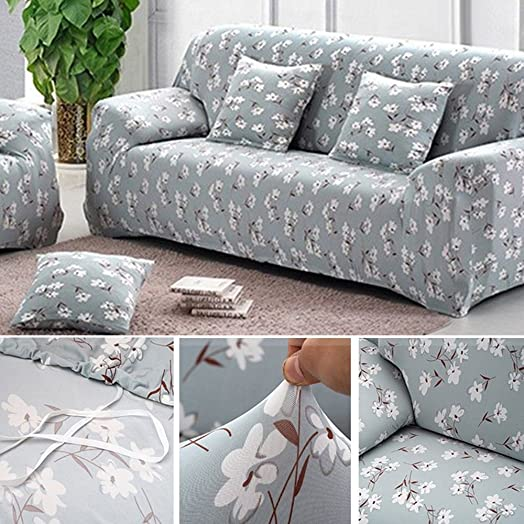 Sofa Covers 3 Seater Sofa Slipcover Stretch Elastic Pet Dog Couch Protector  Easy Fit Flower