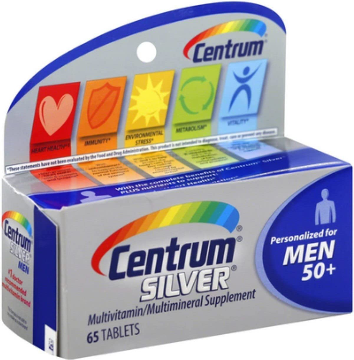 Centrum Silver Men 50 Multivitamin Tablets 65 ea Pack of 5