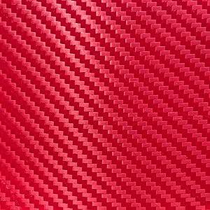 hoho rojo de fibra de carbono patrón vinilo adhesivos color HTV ...