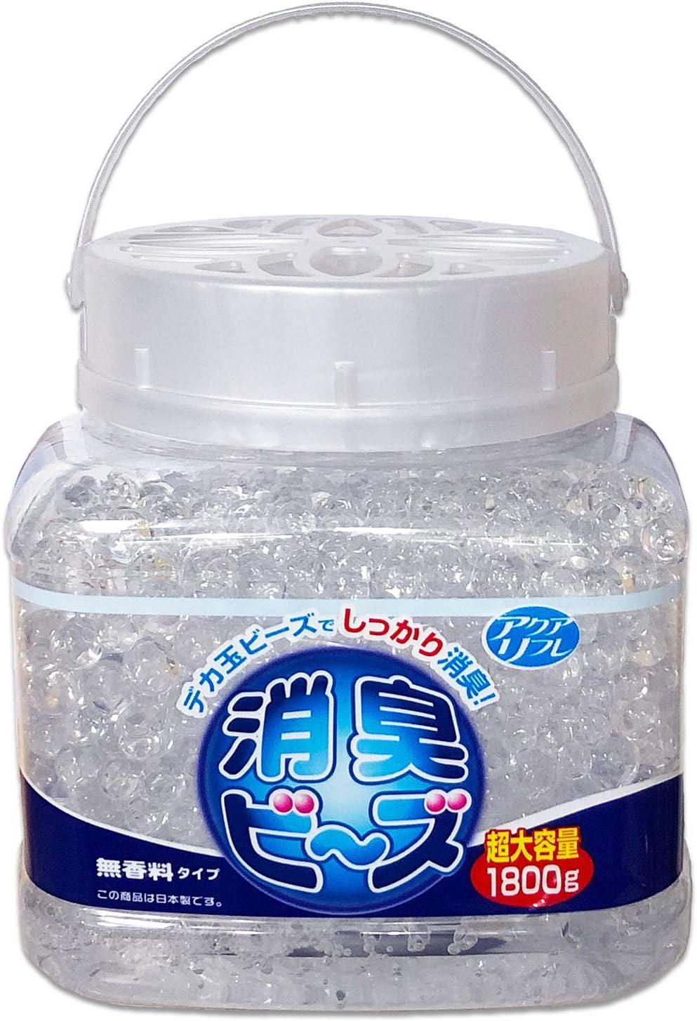ライオンケミカル アクアリフレ 消臭剤 デカ玉 消臭ビーズ 無香料 特大