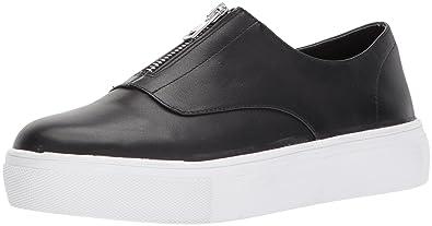 b02cee4377c STEVEN by Steve Madden Women s Gratis Sneaker Black Leather 6 Medium US