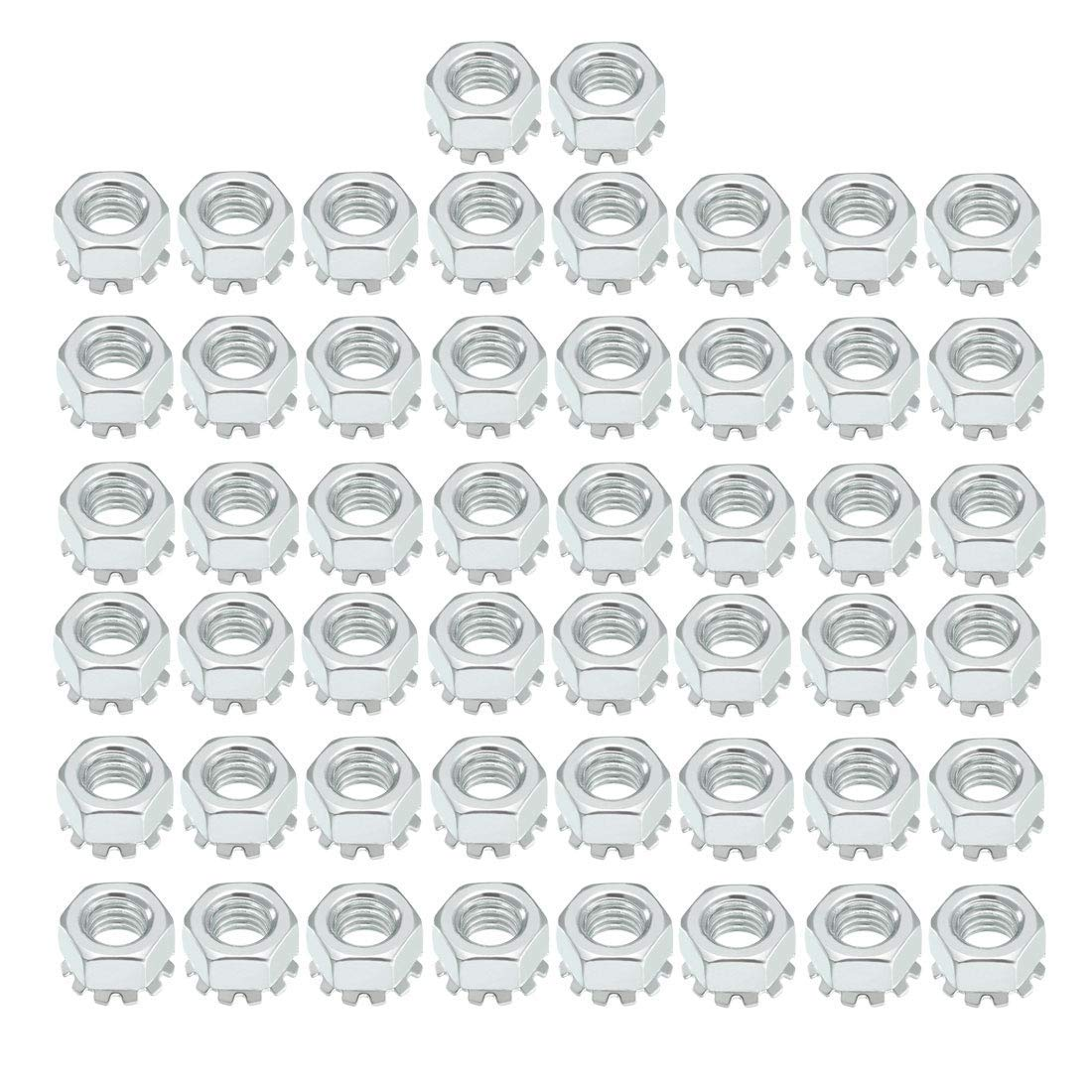 M8 X 1.25 Step Carbon Steel Female Thread Kep Hexagon Head nut Nut 50 Pieces