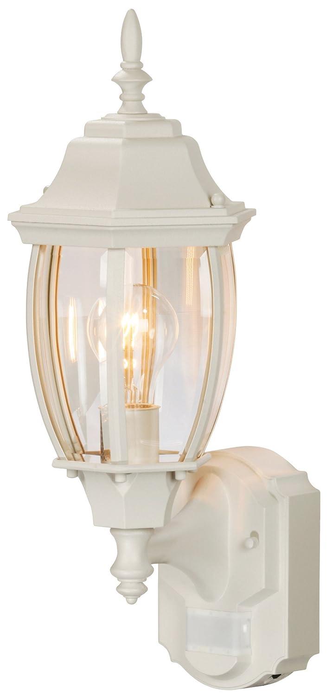 Heath Zenith HZ-4192-WHSix-Sided Die-Cast Aluminum Lantern, White with Beveled Glass