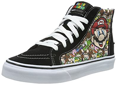 95c25a74eb Vans SK8 Hi Zip Nintendo Mario   Luigi Kids Canvas Trainers Shoes-2 ...