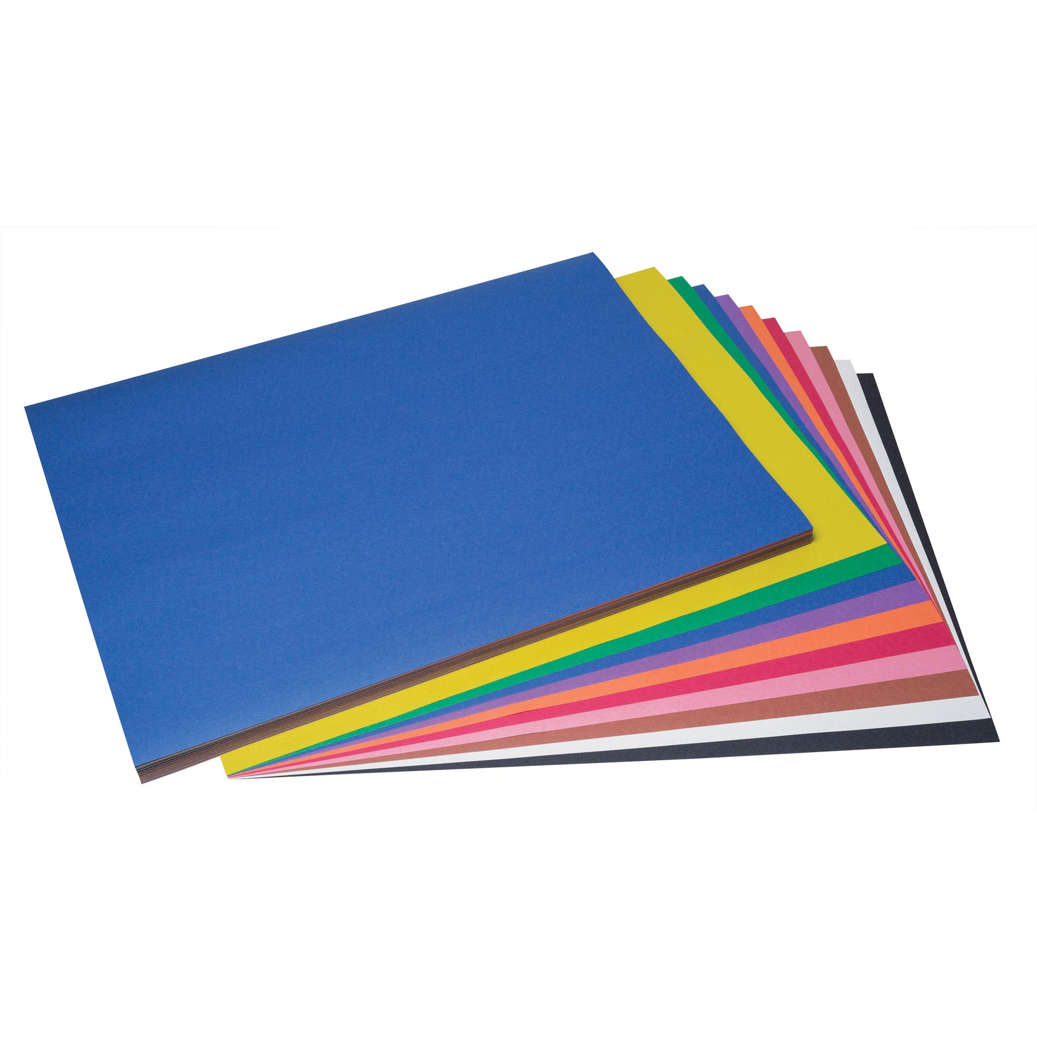 SunWorks PAC6518 Construction Paper, 10 Assorted Colors, 18'' x 24'', 100 Sheets