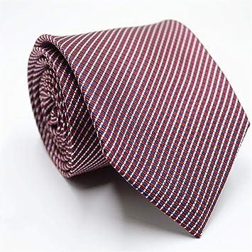XJIUER corbata 8cm Seda Poliéster Jacquard Tejido Corbata de ...
