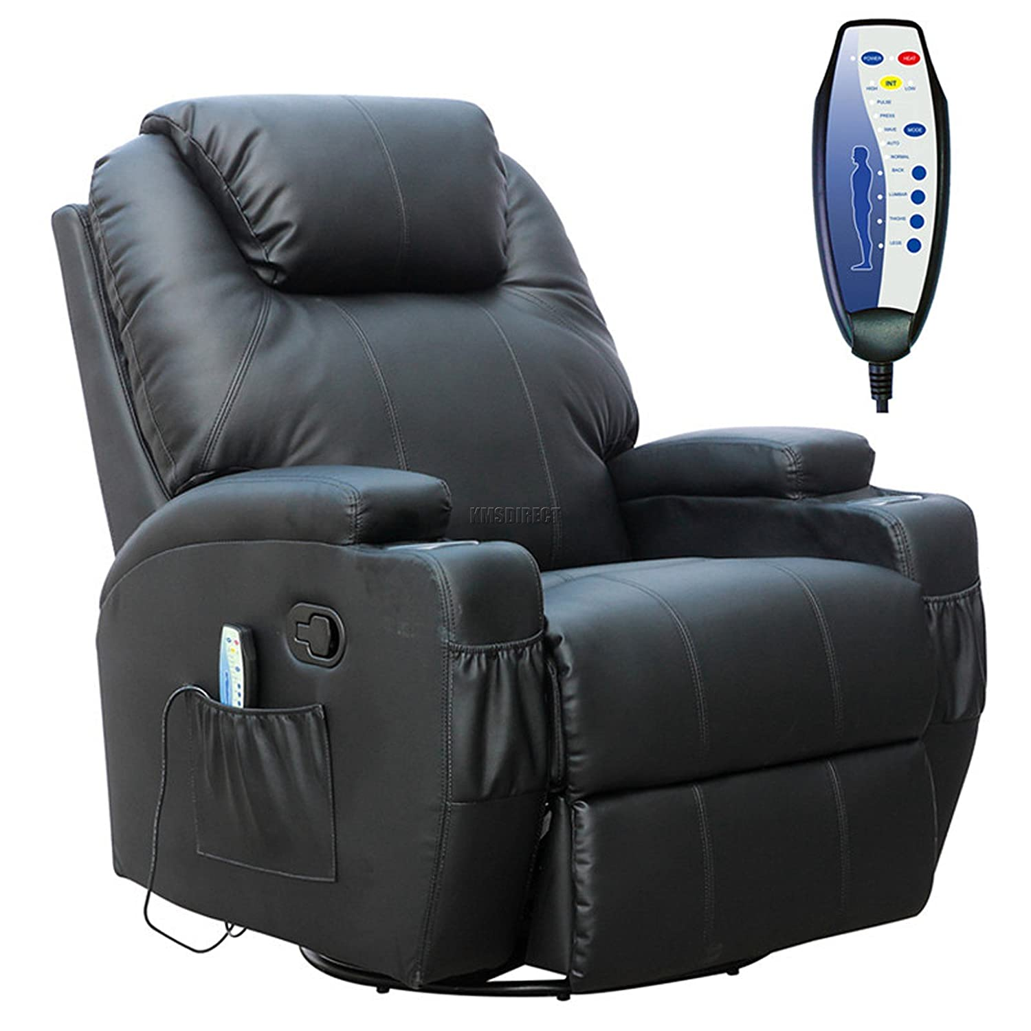 FoxHunter Bonded Leather Massage Cinema Recliner