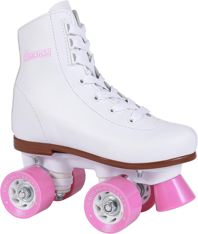 B00005K41F Chicago Girls Rink Roller Skate - White Youth Quad Skates 71LvKbM5a3L