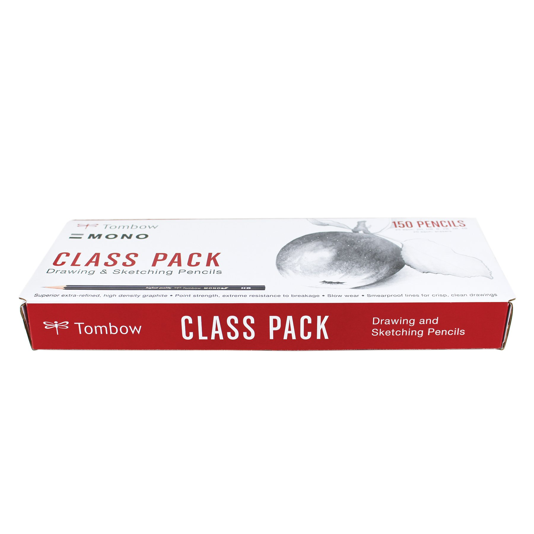 TOMBOW Mono J Classroom Pack, 150 Count Wood Lead Lapiz (...