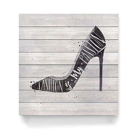 Anna Scarpe Fashion Di Alto Artboxone Stampa Legno Con Qswgftw Tacco Zq57wn