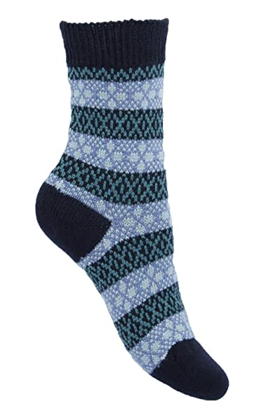Ladies 1 Pair Pantherella Merino Wool Tara Fair Isle Socks 4-7 ...