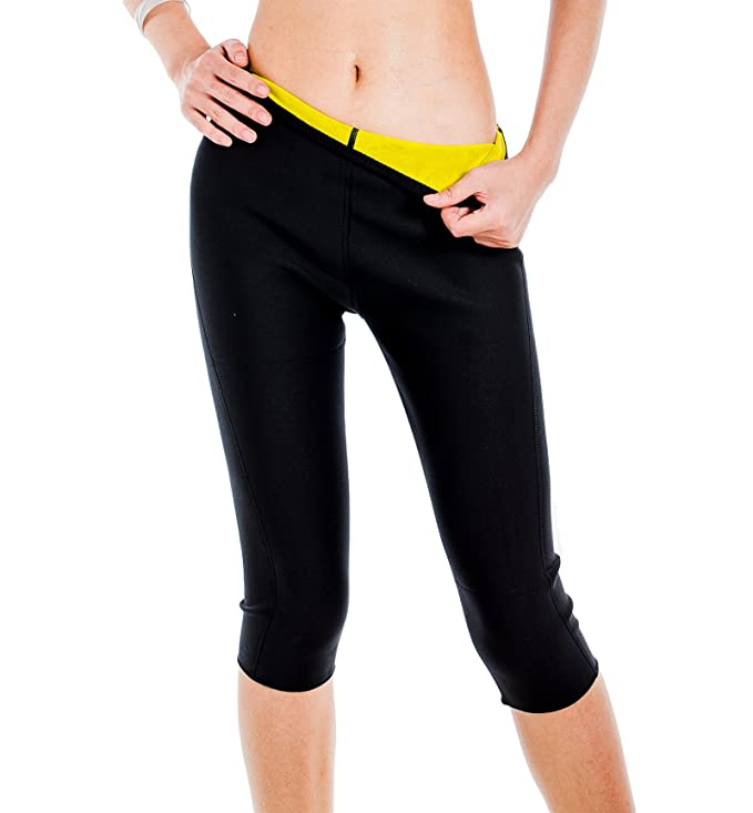 ValentinA Womens Hot Thermo Body Shaper, Neoprene Slimming Capri Pants