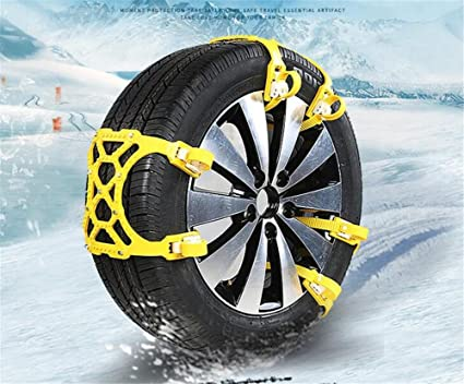 KRISMILEN Accesorios de neumáticos universales antideslizante cadenas de neumáticos cadenas de nieve antideslizante cadenas de ruedas