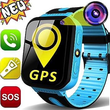 GBD Kids Smartwatch GPS Tracker para Niños 1.44 Pantalla Táctil Rastreador GPS Reloj Teléfono para Niños Niñas con Cámara SOS Niños Perdido Anti ...