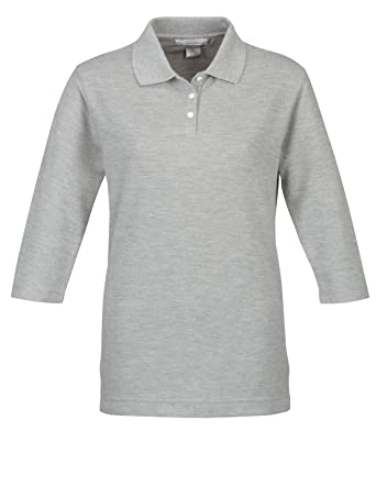 517bf0f16 Image Unavailable. Image not available for. Color  Women s 60 40 Pique 3 4  Sleeve Golf Shirt