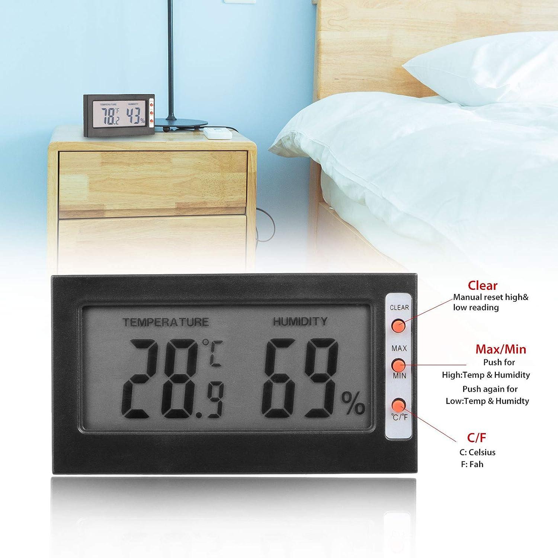 EEEKit Hygrometer Humidity Monitor Digital Indoor Thermometer Temperature Meter Gauge, Dth-06 Lizard Gecko Snake Frog Turtle Frog Guage