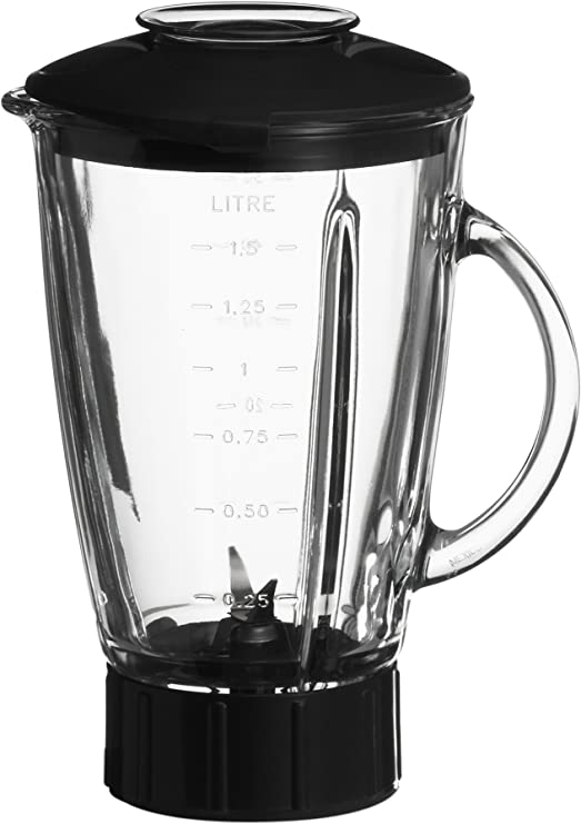 Krups XF603 - Vaso de vidrio para batidora de vaso (1,25 l ...