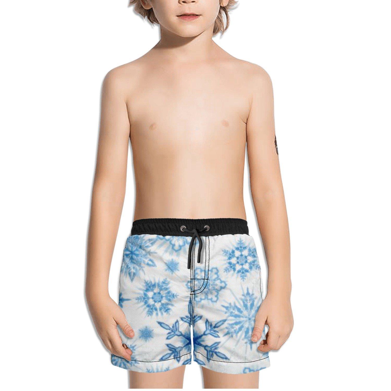Ouxioaz Boys Swim Trunk Snowflakes Snow Beach Board Shorts