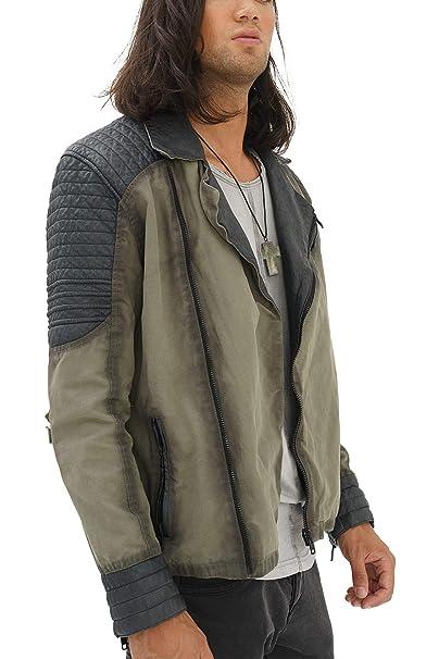 trueprodigy Casual Hombre Marca Chaqueta Moto Basico Ropa Retro Vintage Rock Vestir Moda Militar Deportivo Slim Fit Designer Cool Urban Fashion Jacket con ...