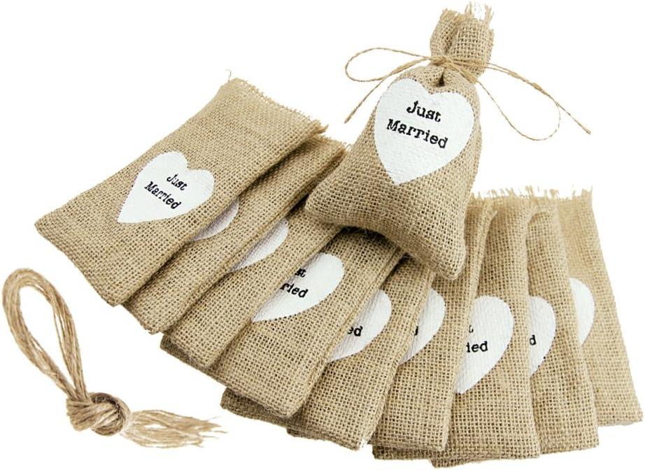 Rustic Jute Burlap Gift Bags Hessian Drawstring Wedding Favours Jewellery UK