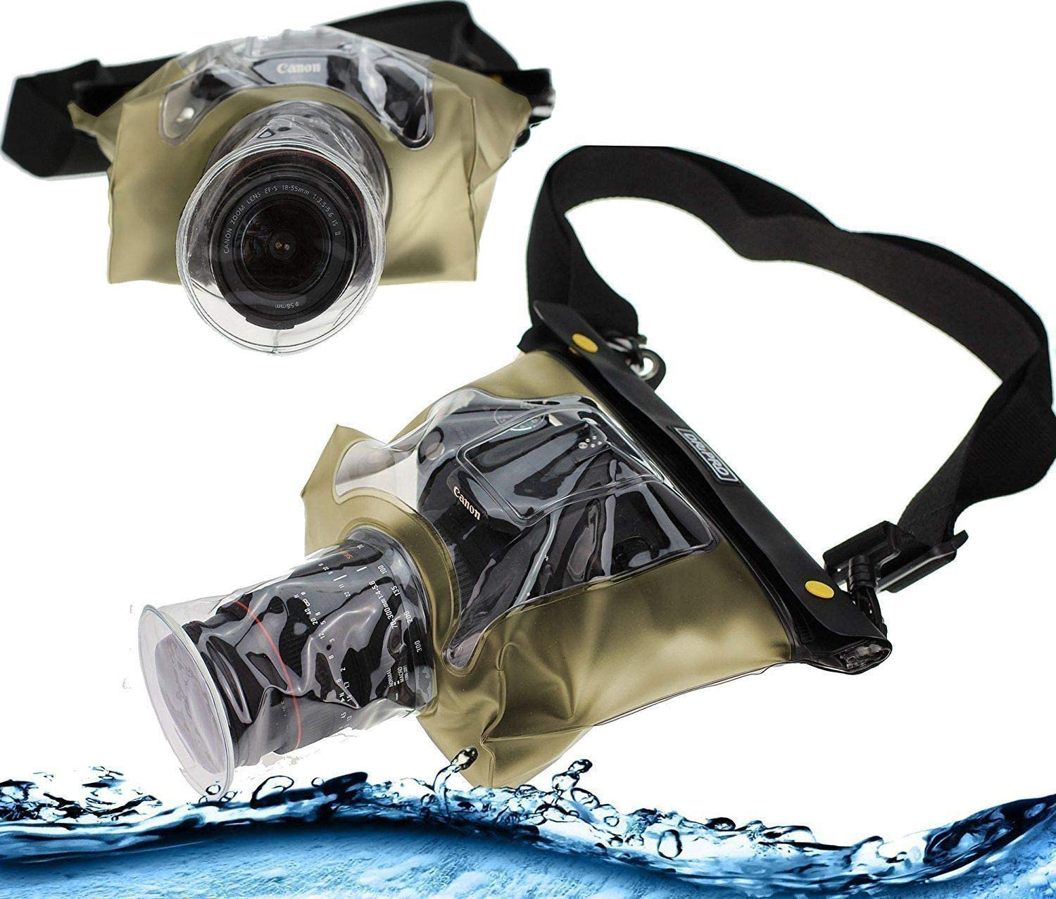 Navitech Yellow/ DSLR SLR Waterproof Underwater Housing Case//Cover Pouch Dry Bag Compatible with The/ Kodak PIXPRO AZ422