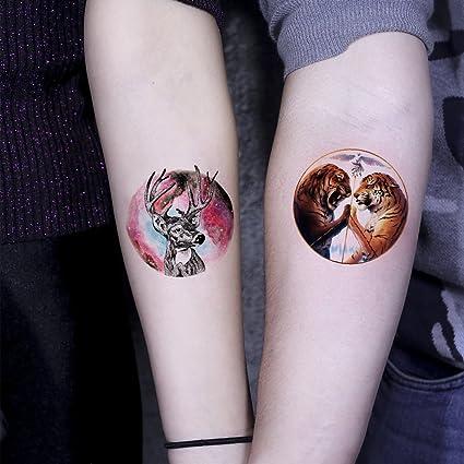 TAFLY - Pegatinas temporales de tatuaje con diseño de tigre de ...