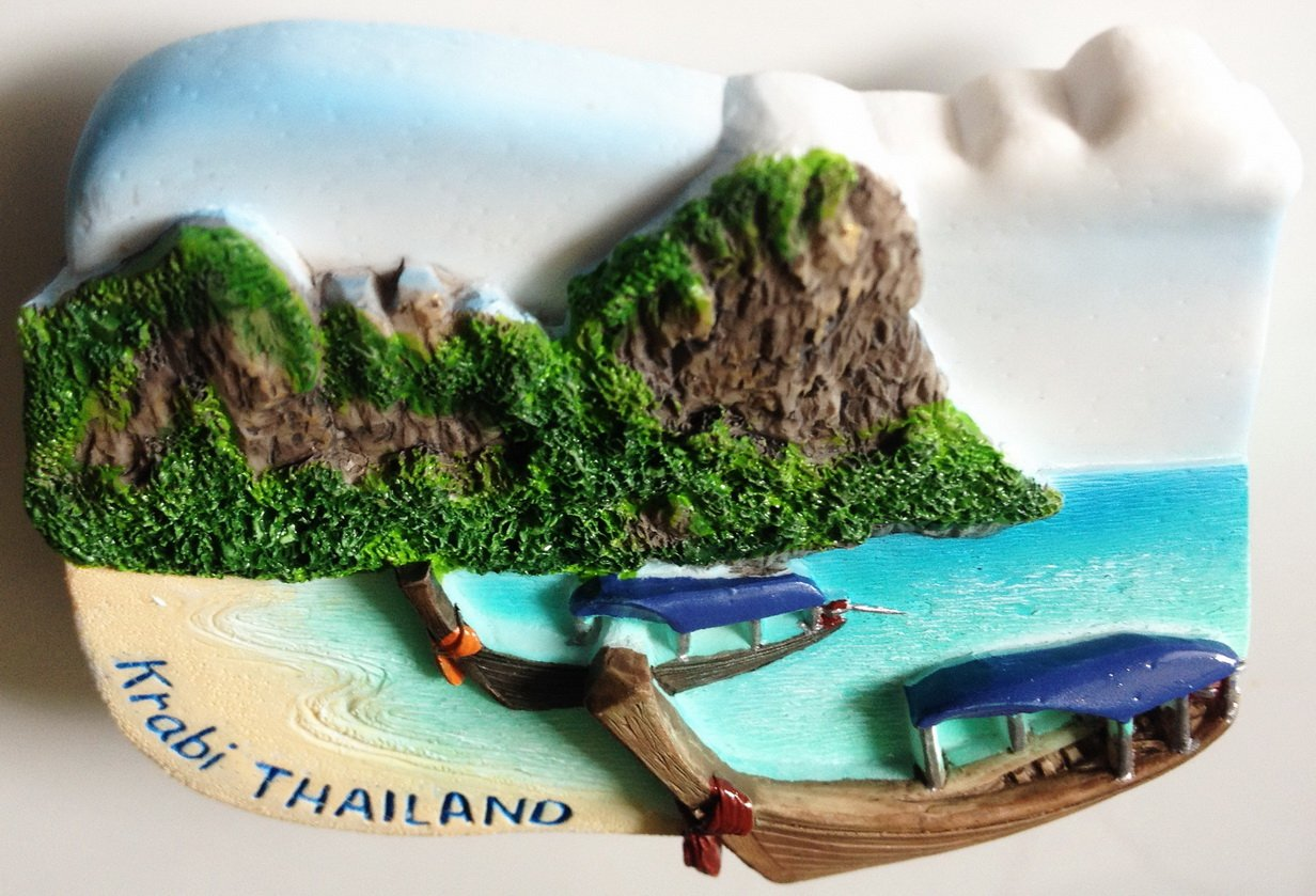 Railay Krabi Thailand High Quality Resin 3D fridge Refrigerator Thai Magnet Hand Made Craft.
