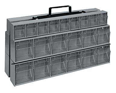 Quantum Storage Systems QTF320 42GY Complete Tip Out Bin Frame With Bins,  Grey