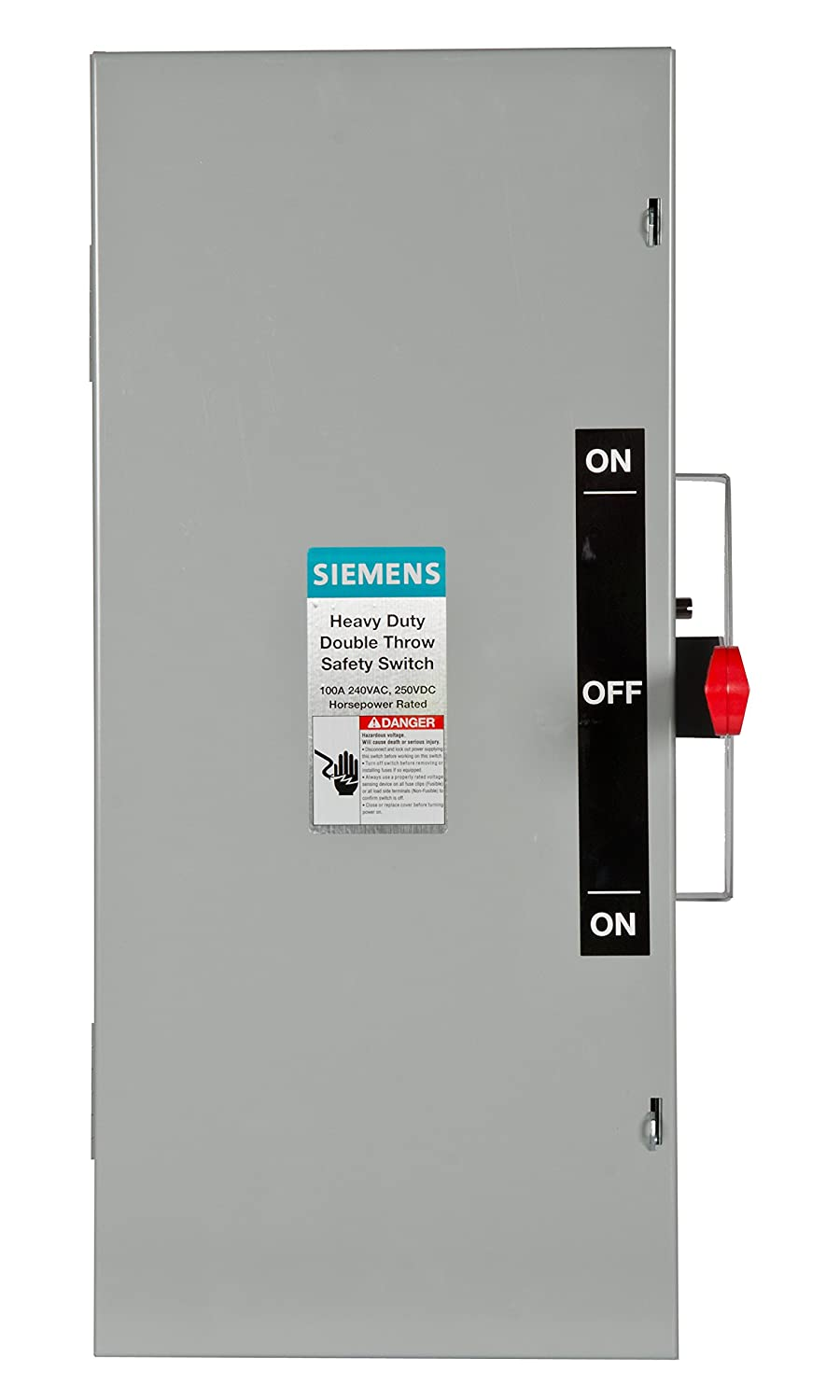 Siemens DTNF223 100-Amp 2 Pole 240-volt 2W Non-Fused Double Throw Safety  Switches - - Amazon.com