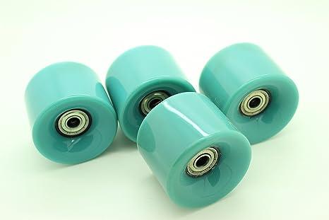 AJK Penny Style - Juego de 4 ruedas blandas para monopatín, estilo retro, ideales