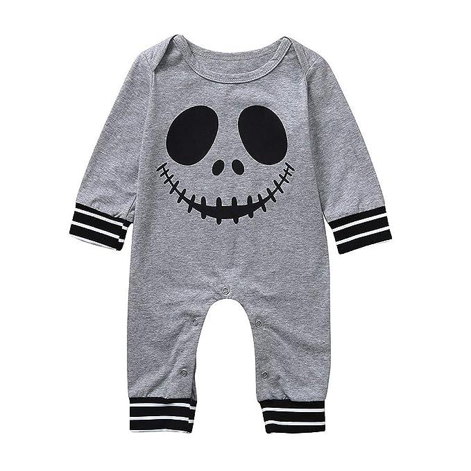 Berimaterry Ropa Bebé Bebe Halloween Pelele Esqueleto Monos Bodies ...
